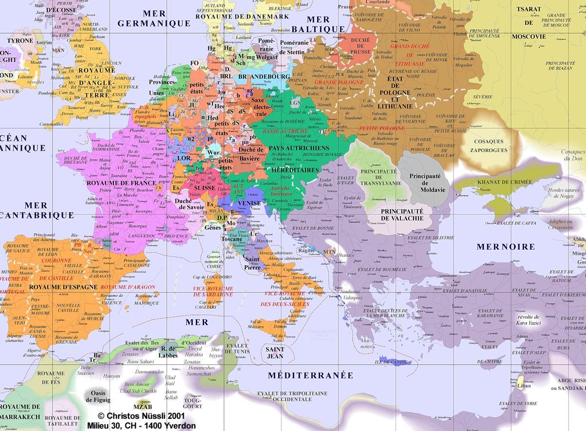 Carte Europe 1600   casamagenta